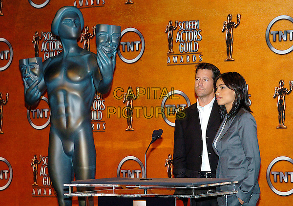 JAMES DENTON & ROSARIO DAWSON.11th Annual Screen Actors Guild Awards Nominations, Pacific Design Center's SilverScreen Theatre, West Hollywood, California, 11 January 2005..half length .Ref: ADM.www.capitalpictures.com.sales@capitalpictures.com.©Jacqui Wong/AdMedia/Capital Pictures .