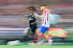 Marcelo Vieira Da Silva (l) of Real Madrid battles for the ball with Yannick Ferreira Carrasco of Atletico de Madrid during their 2016-17 UEFA Champions League Semifinals 2nd leg match between Atletico de Madrid and Real Madrid at the Estadio Vicente Calderon on 10 May 2017 in Madrid, Spain. Photo by Diego Gonzalez Souto / Power Sport Images
