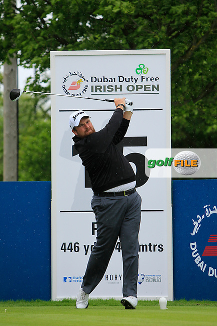 Shane Lowry (IRL) on the 15th tee during Tuesday's Practice round of the Dubai Duty Free Irish Open Trophy at The K Club, Straffan, Co. Kildare<br /> Picture: Golffile | Thos Caffrey<br /> <br /> All photo usage must carry mandatory copyright credit <br /> (&copy; Golffile | Thos Caffrey)
