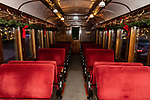 THOMASTON, CT. 08 December 2018-120818 - The 1891 Rutland combine car, all decorated for the holidays with it's plush velour seating is a must VIP experience during The Northern Lights Limited train ride with Santa and his elves at the Railroad Museum of New England in Thomaston on Saturday. Bill Shettle Republican-American