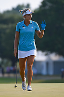 Lexi Thompson (USA) steps on the green on 18 to the roar of the crowd during round 4 of the 2019 US Women's Open, Charleston Country Club, Charleston, South Carolina,  USA. 6/2/2019.<br /> Picture: Golffile | Ken Murray<br /> <br /> All photo usage must carry mandatory copyright credit (© Golffile | Ken Murray)