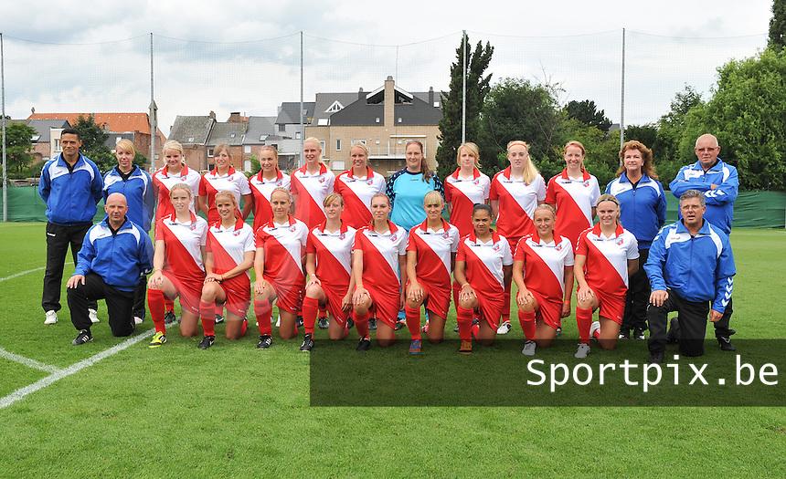 FC Utrecht Dames : ploegfoto 2012 - 2013.foto DAVID CATRY / Vrouwenteam.be
