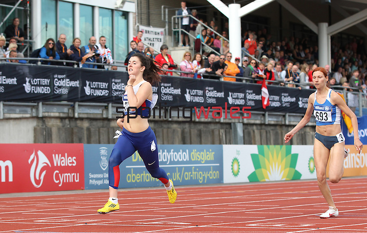 IPC European Athletics Championship 2014<br /> Olivia Breen GBR<br /> Women's 100m T38<br /> Swansea University<br /> 20.08.14<br /> &copy;Steve Pope-SPORTINGWALES