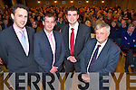 Cllr Patrick Connor Scarteen, Tom Sheahan TD, Cllr Brendan Griffin and Cllr PJ O'Donovan at the South Kerry Fine Gael convention held in the Heights Hotel, Killarney on Monday night.
