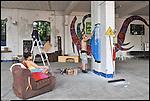 UP al lavoro negli spazi di BUNKER, Il nuovo progetto di Urbe nell'ex stabilimento SICMA Torino. Luglio 2012