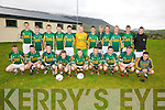 The South Kerry Minor team who defeated West Kerry in the quarter finals of the County Minor Championship 1-13 to 1-11 on Tuesday 7th August at Foilmore GAA Grounds were front l-r; Vinny Casey, Dara O'Sullivan, Pat Cournane, Kevin Curran, Ronan O'Shea, Brian Sugrue, Conor O'Shea, Denis Daly, Eoghan McCrohan, back l-r; Fionán Clifford, Sean O'Sullivan, Darren O'Sullivan, Oran Mahony, Morgan O'Donoghue, Padraig O'Sullivan, Conor O'Leary, Liam Stapleton, Mathew O'Sullivan, Eoghan O'Sullivan, Robert Wharton & Kevin O'Sullivan.
