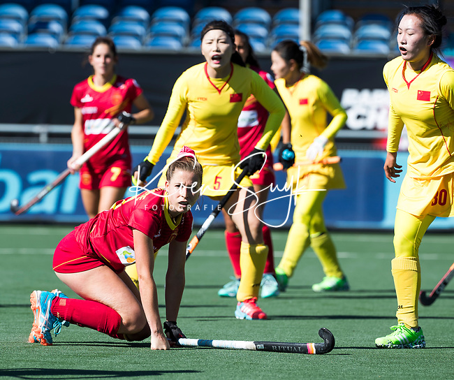 BREDA - Berta Bonastre (Esp)  tijdens Spanje-China bij de 4 Nations Trophy dames 2018 .  COPYRIGHT  KOEN SUYK