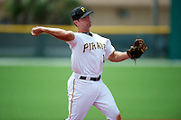 GCL Pirates Eric Wood #15 during a Gulf Coast League game against the GCL Phillies at Pirate City on July 18, 2012 in Bradenton, Florida.  GCL Pirates defeated the GCL Phillies 6-3.  (Mike Janes/Four Seam Images)