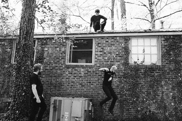 October 27, 2011. Chapel Hill, NC.. Scott Endres, Spencer Lee, Matt Stevenson of the band Make photographed in and around Chapel Hill, NC.