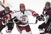 Evan Peterson (Colgate - 26), Devin Tringale (Harvard - 22), Mike Borkowski (Colgate - 21) - The Harvard University Crimson defeated the visiting Colgate University Raiders 7-4 (EN) on Saturday, February 20, 2016, at Bright-Landry Hockey Center in Boston, Massachusetts,