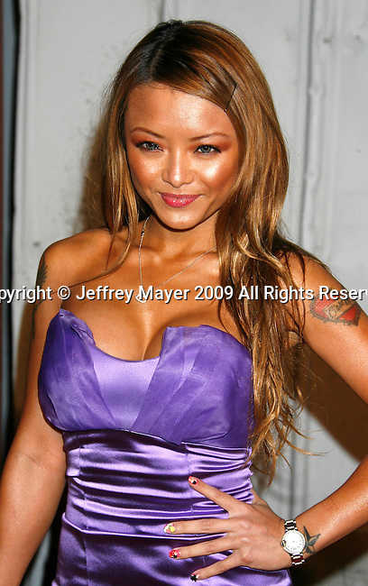SANTA MONICA, CA. - May 13: Tila Tequila arrives at the Maxim's 10th Annual Hot 100 Celebration at The Barker Hangar on May 13, 2009 in Santa Monica, California.