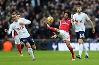 Mohamed Elneny of Arsenal and Christian Eriksen of Tottenham Hotspur during Tottenham Hotspur vs Arsenal, Premier League Football at Wembley Stadium on 10th February 2018