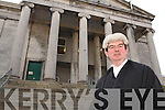 Mr Justice George Birmingham outside Tralee Courthouse on Monday
