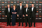 Porfirio Enriquez, Gracia Querejeta, Antonio Resines, Edmon Roch, Pedro Sanchez attend 30th Goya Awards red carpet in Madrid, Spain. February 06, 2016. (ALTERPHOTOS/Victor Blanco)