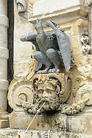 Brunnen bei alter Hauptwache in in Valletta, Malta, Europa, Unesco-Weltkulturerbe