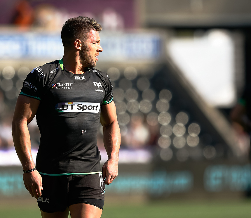 Ospreys' Rhys Webb<br /> <br /> Photographer Simon King/CameraSport<br /> <br /> Guinness PRO12 Round 19 - Ospreys v Leinster Rugby - Saturday 8th April 2017 - Liberty Stadium - Swansea<br /> <br /> World Copyright &copy; 2017 CameraSport. All rights reserved. 43 Linden Ave. Countesthorpe. Leicester. England. LE8 5PG - Tel: +44 (0) 116 277 4147 - admin@camerasport.com - www.camerasport.com
