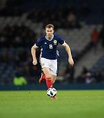 23rd March 2018, Hampden Park, Glasgow, Scotland; International Football Friendly, Scotland versus Costa Rica; Kevin McDonald made his debut for Scotland
