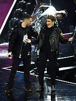 Marco Anastasio-Mara Maionchi<br /> Milano 13-12-2018 <br /> Finale TV X Factor 2018 <br /> Foto Daniele Buffa / Image / Insidefoto