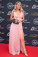 Olivia Newman-Young at the Grand Prix Ball at the Hurlingham Club, London on July 4th 2018<br /> CAP/ROS<br /> &copy;ROS/Capital Pictures