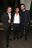LOS ANGELES, CA - NOVEMBER 8: Luca Riemma, José Bastón, Andrea Iervolino, at the Eva Longoria Foundation Dinner Gala honoring Zoe Saldana and Gina Rodriguez at The Four Seasons Beverly Hills in Los Angeles, California on November 8, 2018. Credit: Faye Sadou/MediaPunch