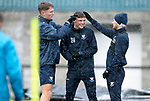 St Johnstone Training&hellip;22.01.19   McDiarmid Park<br />Jason Kerr and `Matty Kennedy inspect Ross Callachan&rsquo;s hair during a snowy training session this morning ahead of tomorrow night&rsquo;s game against Livingston.<br />Picture by Graeme Hart.<br />Copyright Perthshire Picture Agency<br />Tel: 01738 623350  Mobile: 07990 594431