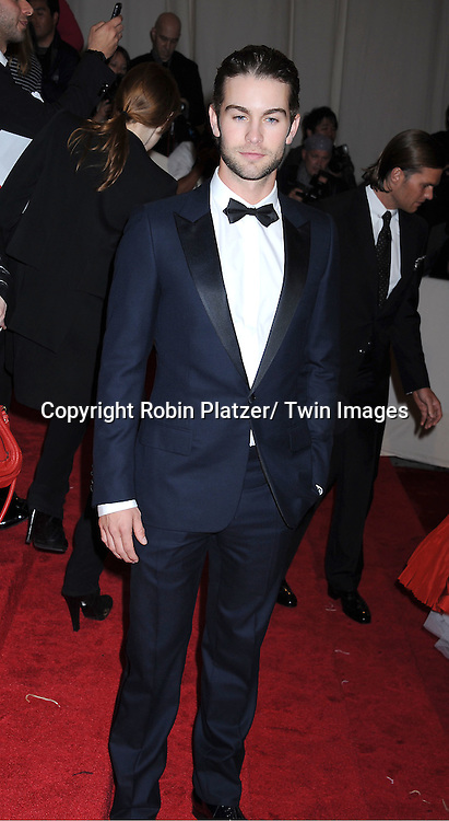 "Chase Crawford  arriving at The Costume Institute Gala Benefit celebriting ""Alexander McQueen: Savage Beauty"" at The Metropolitan Museum of Art in New York City on May 2, 2011."