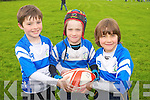 Samuel Barrero, Paddy Lane, Oisin Lawlor at the Tralee Rugby Club Blitz at O'Dowd Park on Saturday