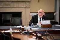 Dr. Robert Redfield, Director of the Centers for Disease Control and Prevention , listens during a United States House Appropriations Subcommittee hearing on Capitol Hill in Washington, D.C., U.S., on Thursday, June 4, 2020. Photographer: Al Drago/Bloomberg<br /> Credit: Al Drago / Pool via CNP/AdMedia