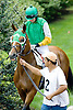 Lord Fox with Niall Kelly before The Gentleman International Fegentri Race at Delaware Park on 9/3/11