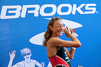 Chrissie Wellington at an autograph signing session for one of her sponsors, Brooks, at Triathlon Park two days before the Challenge Roth Ironman Triathlon, Roth, Germany, 08 July 2011
