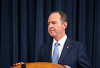 United States Representative Adam Schiff (Democrat of California) arrives following a break in the testimony of Former U.S. Ambassador to Ukraine Marie Yovanovitch before the U.S. House Permanent Select Committee on Intelligence as they investigate the impeachment of US President Donald J. Trump on Capitol Hill in Washington D.C., U.S., on Friday, November 15, 2019. <br /> <br /> Credit: Stefani Reynolds / CNP/AdMedia