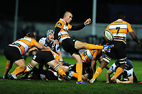 Ruan Pienaar of Cheetahs in action during the Guinness Pro 14 Round 7 match between Ospreys and Cheetahs at The Gnoll in Neath, Wales, UK. Saturday 30 November 2019