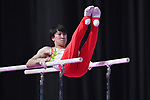 Fuya Maeno (JPN), <br /> AUGUST 20, 2018 - Artistic Gymnastics : Men's Individual All-Around Parallel Bars at JIEX Kemayoran Hall D during the 2018 Jakarta Palembang Asian Games in Jakarta, Indonesia. <br /> (Photo by MATSUO.K/AFLO SPORT)