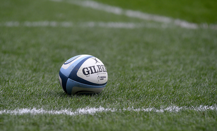 Match ball<br /> <br /> Photographer Hannah Fountain/CameraSport<br /> <br /> Gallagher Premiership - Leicester Tigers v Wasps - Saturday 2nd March 2019 - Welford Road - Leicester<br /> <br /> World Copyright © 2019 CameraSport. All rights reserved. 43 Linden Ave. Countesthorpe. Leicester. England. LE8 5PG - Tel: +44 (0) 116 277 4147 - admin@camerasport.com - www.camerasport.com
