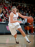 STANFORD CA-NOVEMBER 28, 2010: Jeanette Pohlen during the Stanford 93-78 win over Texas in Stanford, California.
