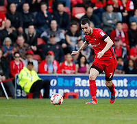 Leyton Orient's Michael Collins on the ball during the Sky Bet League 2 match between Leyton Orient and Grimsby Town at the Matchroom Stadium, London, England on 11 March 2017. Photo by Carlton Myrie / PRiME Media Images.