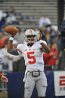 27 October 2012:  Ohio State QB Braxton Miller (5). The Ohio State Buckeyes defeated the Penn State Nittany Lions 35-23 at Beaver Stadium in State College, PA.