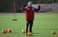 Pictured: Manager Alan Curtis Wednesday 23 December 2015<br /> Re: Swansea City FC training ahead of their West Bromwich Albion game, Fairwood, near Swansea, Wales, UK