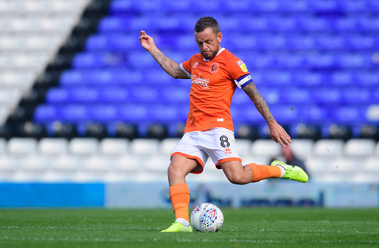 Blackpool's Jay Spearing<br /> <br /> Photographer Chris Vaughan/CameraSport<br /> <br /> The EFL Sky Bet League One - Coventry City v Blackpool - Saturday 7th September 2019 - St Andrew's - Birmingham<br /> <br /> World Copyright © 2019 CameraSport. All rights reserved. 43 Linden Ave. Countesthorpe. Leicester. England. LE8 5PG - Tel: +44 (0) 116 277 4147 - admin@camerasport.com - www.camerasport.com