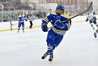 Delaware's Calvin Raymore (18). Delaware defeated Navy 8-3 at McMullen Hockey Arena.<br /> <br /> Photo by Randy Litzinger