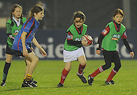 23rd November 2013; Rabodirect Pro12, Girls under-age mini rugby with players from Westport, Ballina, Oughterard, Galwegians and Claremorris. Connacht v Scarlets, Sportsground, Galway. Picture credit: Tommy Grealy/actionshots.ie.