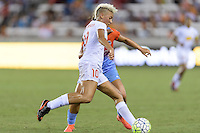 Houston, TX - Saturday July 30, 2016: Lianne Sanderson during a regular season National Women's Soccer League (NWSL) match between the Houston Dash and the Western New York Flash at BBVA Compass Stadium.