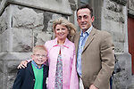 Cian Glynn who made his First Communion at St. Mary's Church on Saturday 16th May, pictured with mum Sinéad and uncle Paul Chaisson, who came all the way from the United States.