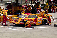 DAYTONA BEACH, FL - JUL 2, 1994:  Sterling Marlin makes a pit stop in the #4 Chevrolet Lumina during the Pepsi 400 NASCAR Winston Cup race at Daytona International Speedway, Daytona Beach, FL. (Photo by Brian Cleary/www.bcpix.com)