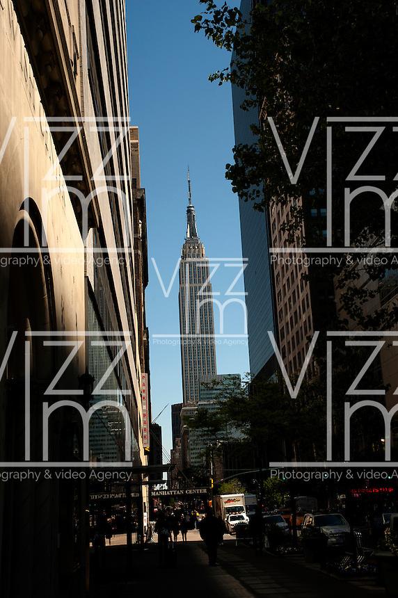 NEW YORK-NY-29-04-2012 . El Edificio Empire State en la ciudad de Nueva York. The Empire State Building in New York City (Photo: VizzorImage/Luis Ramirez).......