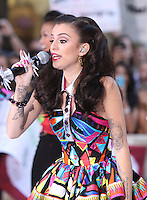 August 30, 2012: Cher Lloyd performs on the Today Show Toyota Concert Series in New York City...&copy; RW/MediaPunch Inc. /NortePhoto.com<br />
