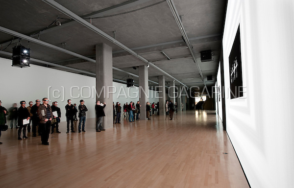 The Kraftwerk 3D Video Installation exhibition at the Kunstbau gallery in München (Germany, 13/10/2011)