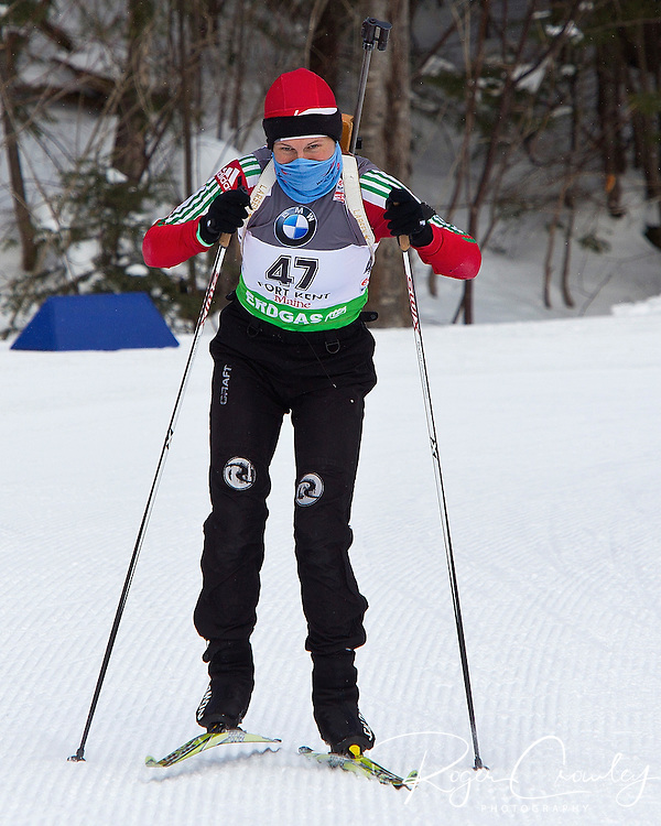E.ON IBU World Cup Biathlon at the 10th Mountain Ski Center in Fort Kent Maine February 11, 2011. Women's 7.5 KM Sprint winners were all from Germany. Andrea Henkel was first followed by Miriam Gossner and Magdalena  Neuner.