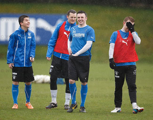 Charlie Telfer, Jon Daly, Calum Gallagher and Stevie Smith