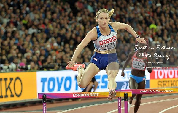 EilidhDOYLE (GBR) in the womens 400m hurdles semi-finals. IAAF world athletics championships. London Olympic stadium. Queen Elizabeth Olympic park. Stratford. London. UK. 08/08/2017. ~ MANDATORY CREDIT Garry Bowden/SIPPA - NO UNAUTHORISED USE - +44 7837 394578